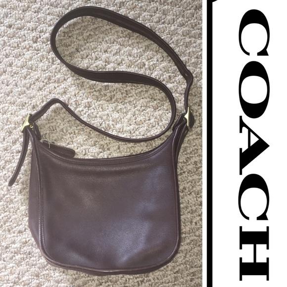 05c78da29504 Coach Handbags - Coach vintage leather dark brown crossbody bag